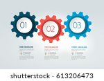 three elements chart  scheme ... | Shutterstock .eps vector #613206473