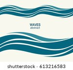 marine seamless pattern with... | Shutterstock .eps vector #613216583