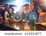 smiley friendly people in the... | Shutterstock . vector #613231877