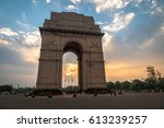 india gate delhi   a war...   Shutterstock . vector #613239257