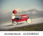 compete with children car | Shutterstock . vector #613248563