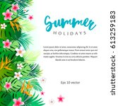tropical summer colorful...   Shutterstock .eps vector #613259183