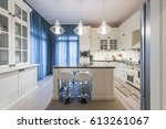modern kitchen interior | Shutterstock . vector #613261067