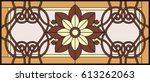 stained glass window in a... | Shutterstock .eps vector #613262063