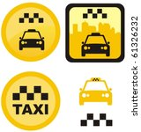set of various taxi icons | Shutterstock .eps vector #61326232