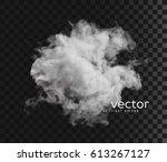 vector illustration of smoke.... | Shutterstock .eps vector #613267127