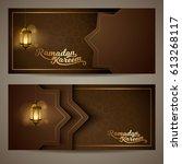ramadan kareem islamic vector... | Shutterstock .eps vector #613268117