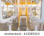 stair of gas metering station...   Shutterstock . vector #613285313