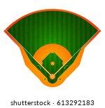 baseball field. stadium. sport... | Shutterstock .eps vector #613292183