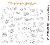 decorative calligraphic... | Shutterstock .eps vector #613302617