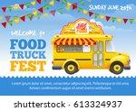 food truck festival poster... | Shutterstock .eps vector #613324937