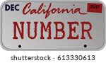 car registration number plates... | Shutterstock .eps vector #613330613