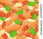 vector seamless pattern peanut... | Shutterstock .eps vector #613333937