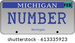 state of michigan car... | Shutterstock .eps vector #613335923