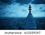 view from top of sacre coeur... | Shutterstock . vector #613339247