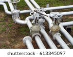 gas pipeline  oil pipeline | Shutterstock . vector #613345097