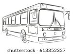 sketch of bus. | Shutterstock .eps vector #613352327