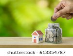 savings plans for housing ... | Shutterstock . vector #613354787