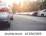 cars parked in the parking lot... | Shutterstock . vector #613361003