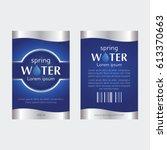 drinking water label  | Shutterstock .eps vector #613370663
