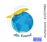 vector image. traveling by... | Shutterstock .eps vector #613374983