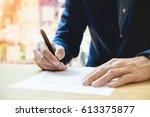 close up of businessperson...   Shutterstock . vector #613375877