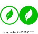abstract green leaf icon set in ...   Shutterstock .eps vector #613399373