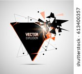 abstract explosion banner.... | Shutterstock .eps vector #613400357