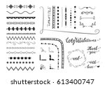 vector set of different... | Shutterstock .eps vector #613400747