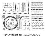 vector set of different... | Shutterstock .eps vector #613400777