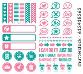 set of stickers for planning.... | Shutterstock .eps vector #613418363