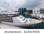 singapore cruise centre ... | Shutterstock . vector #613419353