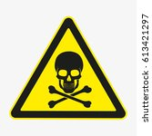 skull. danger sign. vector.... | Shutterstock .eps vector #613421297