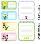 set of different vector note... | Shutterstock .eps vector #613438817