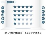 5 star rating icon vector... | Shutterstock .eps vector #613444553