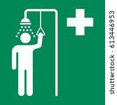 emergency shower sign   Shutterstock .eps vector #613446953