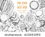 Pub Food Frame Vector...