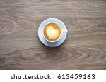cappuccino with foam in the... | Shutterstock . vector #613459163