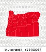 details oregon map in diamond... | Shutterstock .eps vector #613460087
