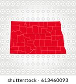 details north dakota map in... | Shutterstock .eps vector #613460093
