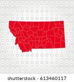 details montana map in diamond... | Shutterstock .eps vector #613460117