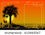 exotic landscape  tropical... | Shutterstock . vector #613463567