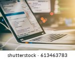 developing programming and... | Shutterstock . vector #613463783