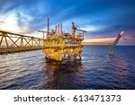 industrial offshore oil and gas ... | Shutterstock . vector #613471373