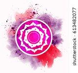 red chakra symbol | Shutterstock . vector #613482077