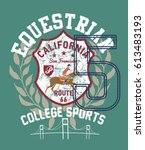 american polo sports graphic... | Shutterstock .eps vector #613483193