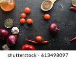 fresh vegetables  chili  onion  ...