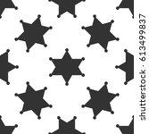hexagram sheriff star badge... | Shutterstock .eps vector #613499837
