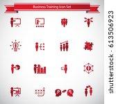 business training icon set | Shutterstock .eps vector #613506923