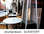Empty Cafe Terrace With Tables...